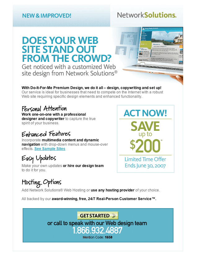 NetworkSolutions DoItForMe email