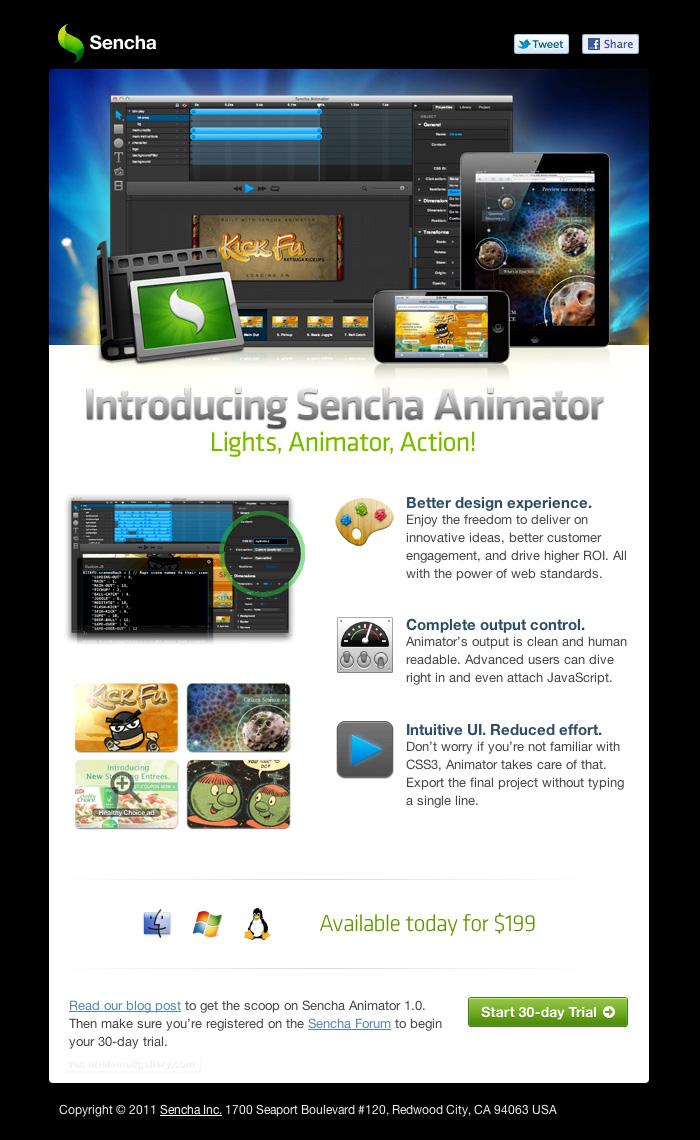 Sencha Animator User Submitted email