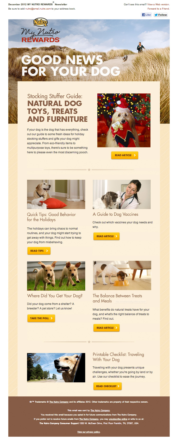 Good News for Your Dogs email