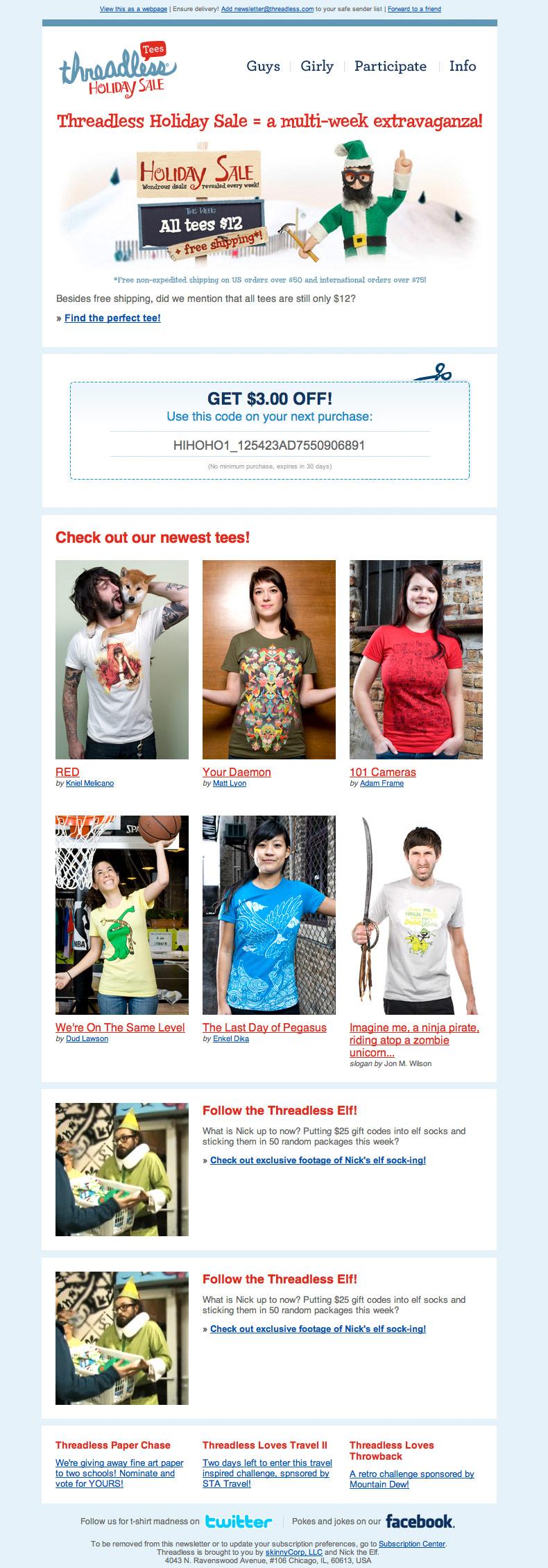 Threadless Holiday Sale 2010
