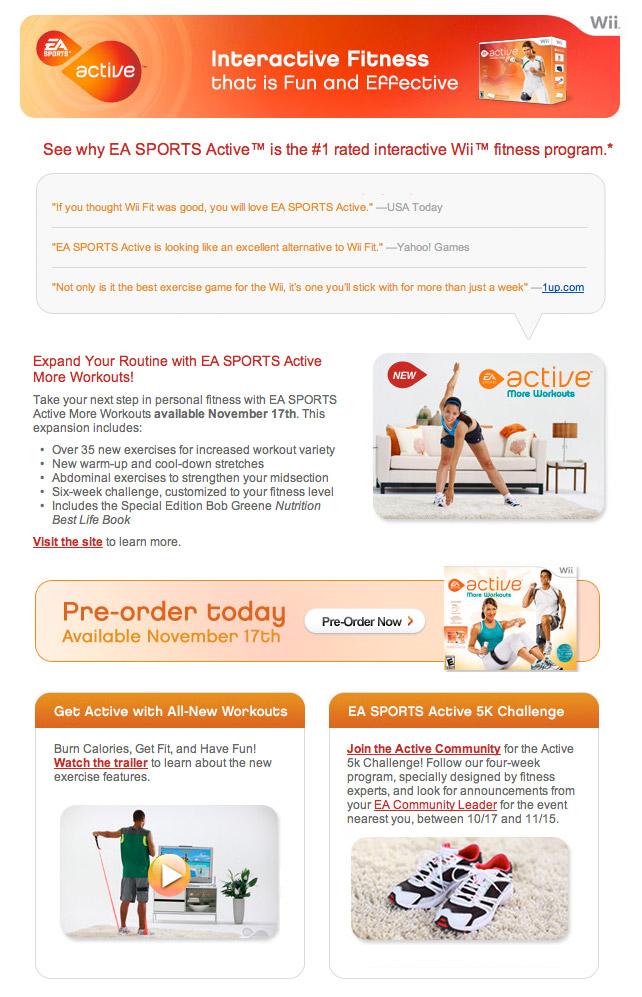 EA Sports 2009 Wii Newsletter