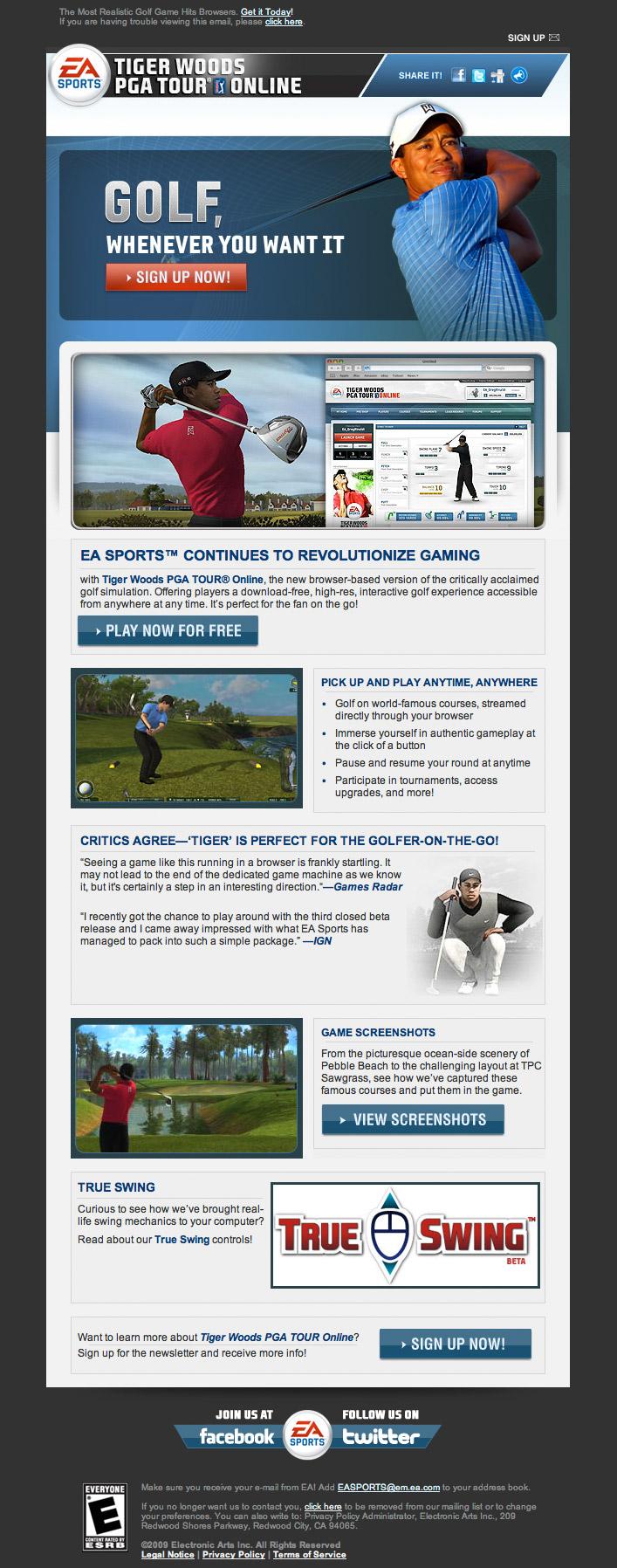 EA Sports Tiger Woods Online 2009