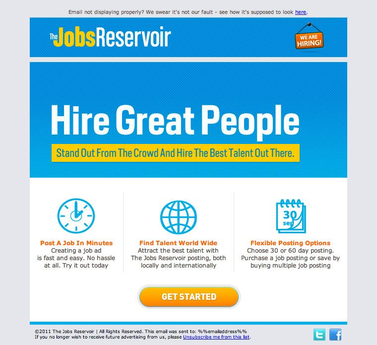 JobsReservoir Hiring Website email