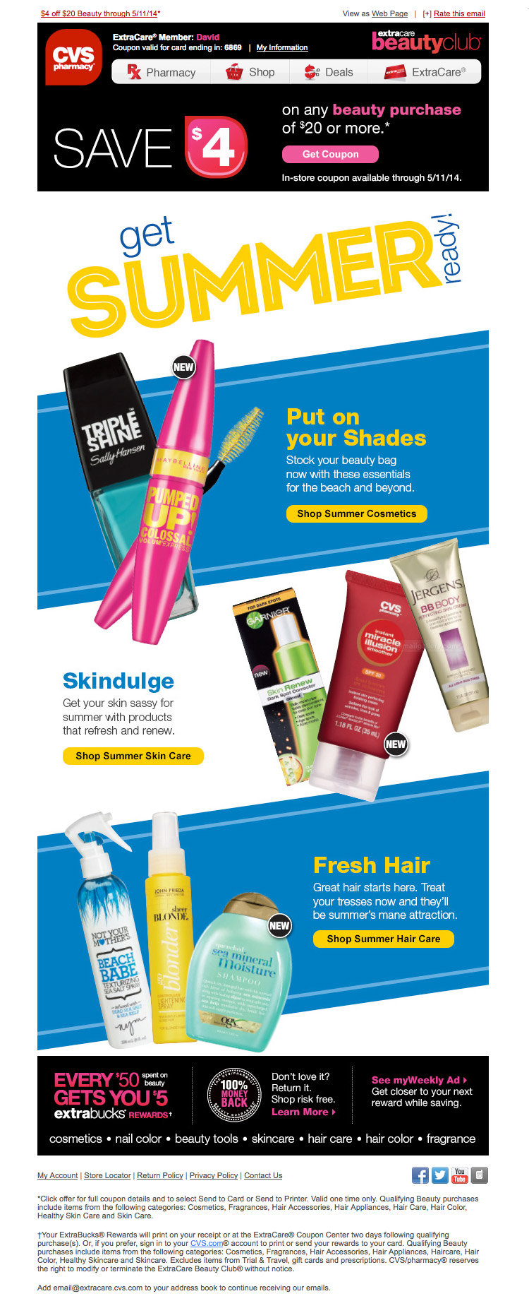 CVS Summer Beauty Purchase email