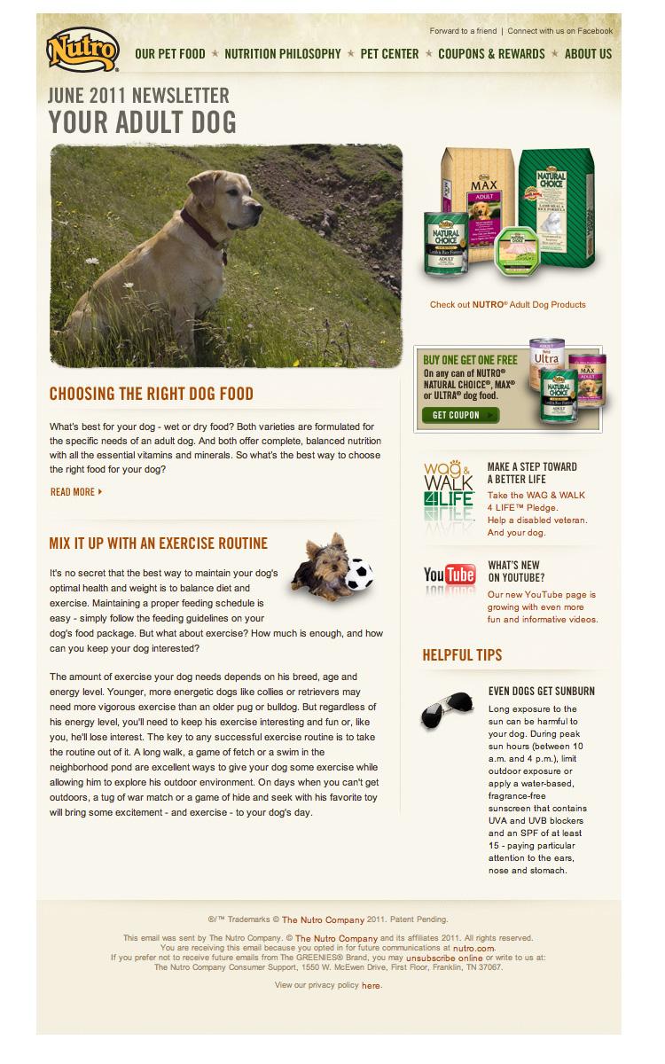 Nutro June 2011 Pets Newsletter