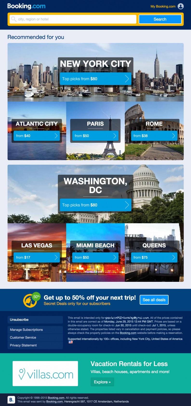 BookingCom Hotel Travel email imarketing