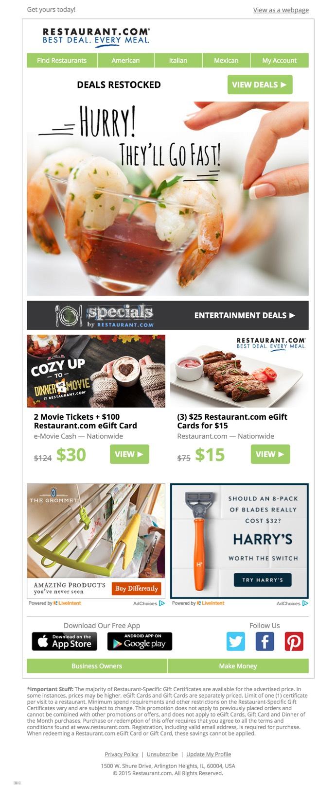 Deals Email design inspiration minimal