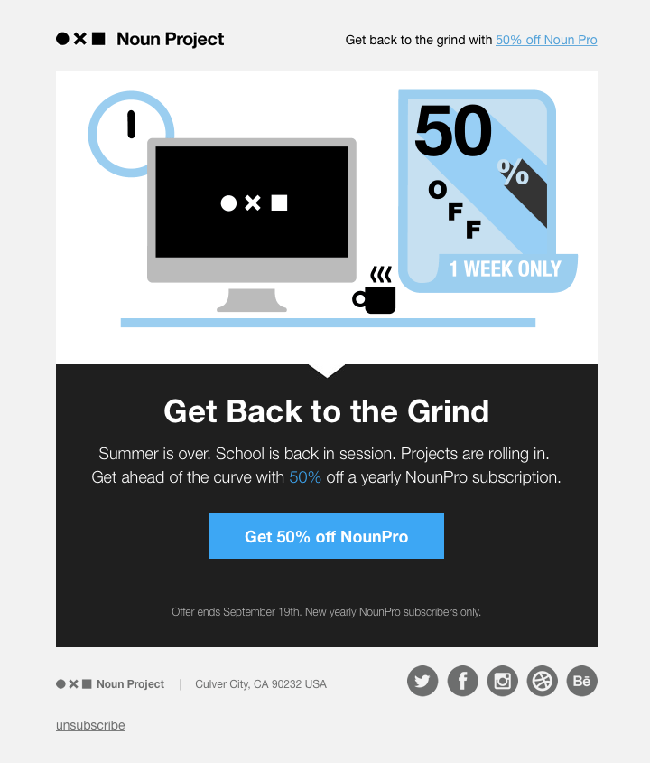 Email Design Call to action