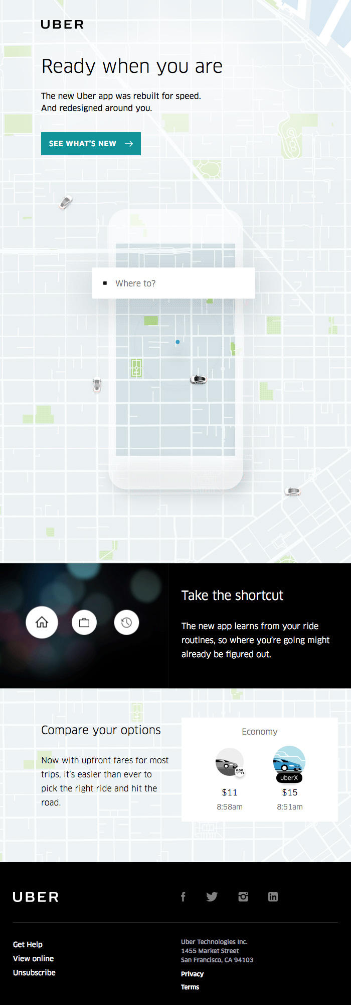 Uber HTML Email design