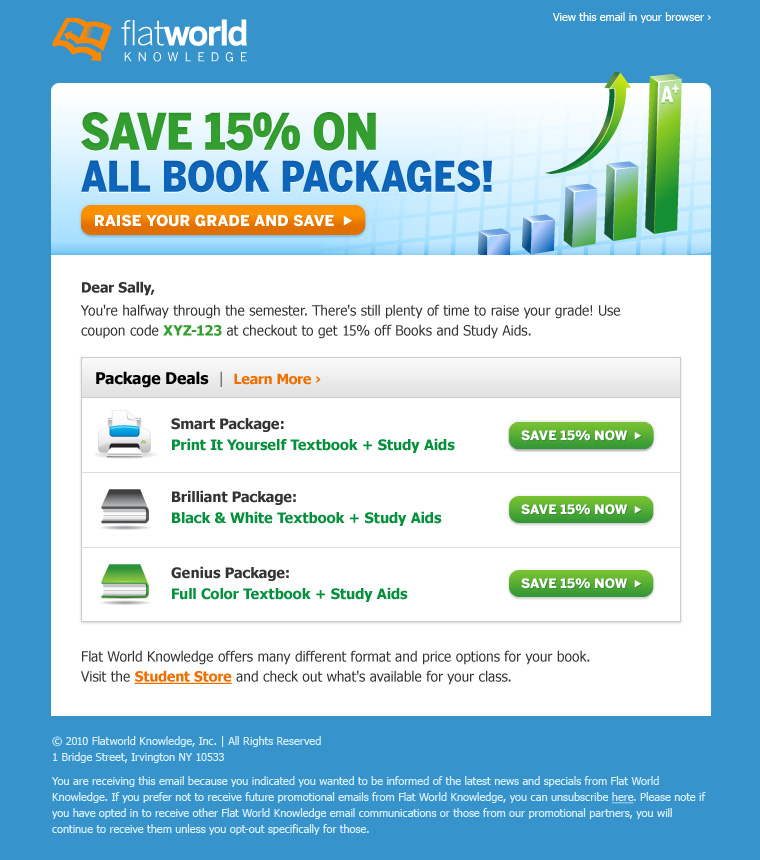 Promo Email Design   HTML Email Gallery