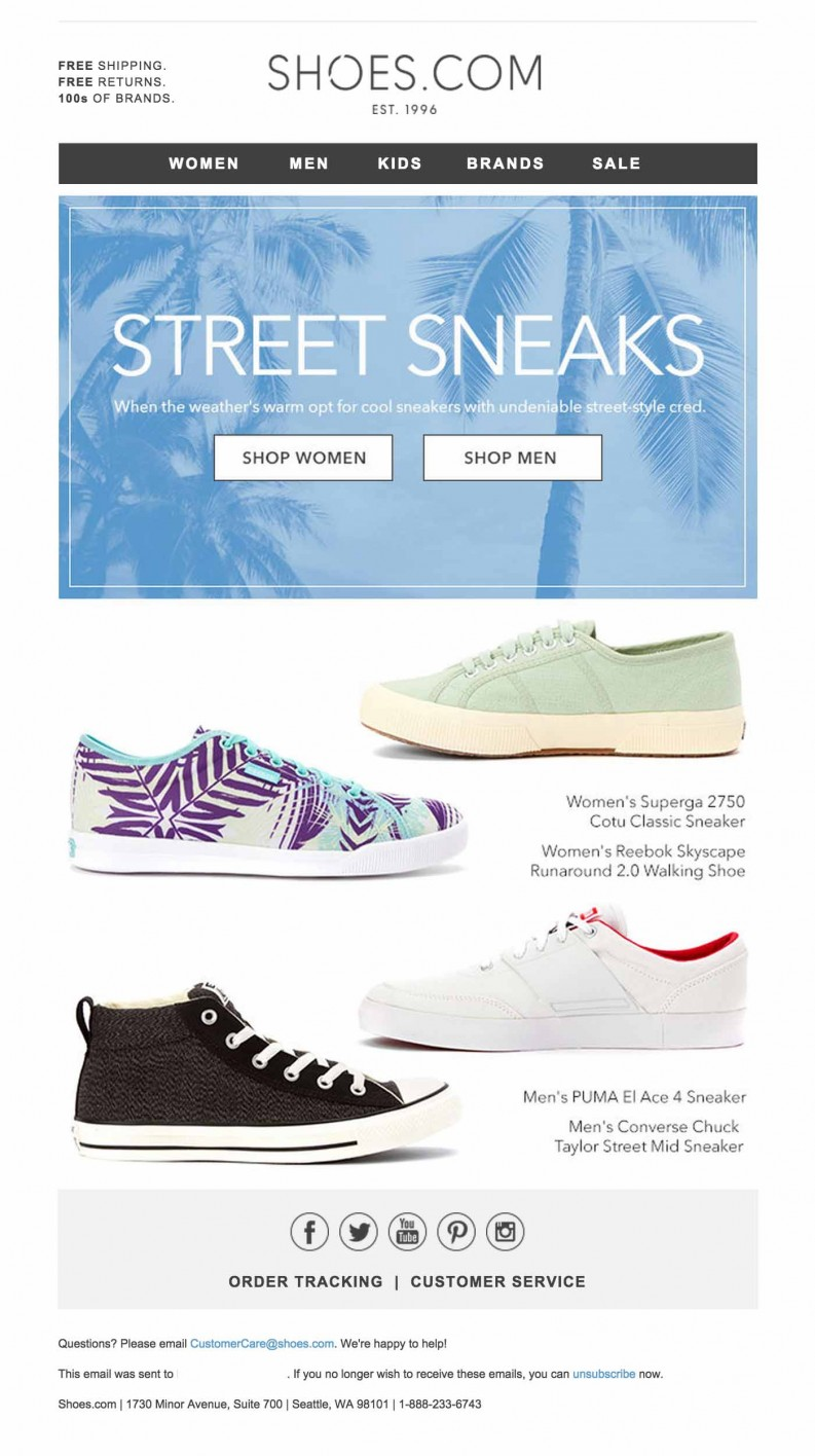 Shoes-com email | HTML Email Gallery