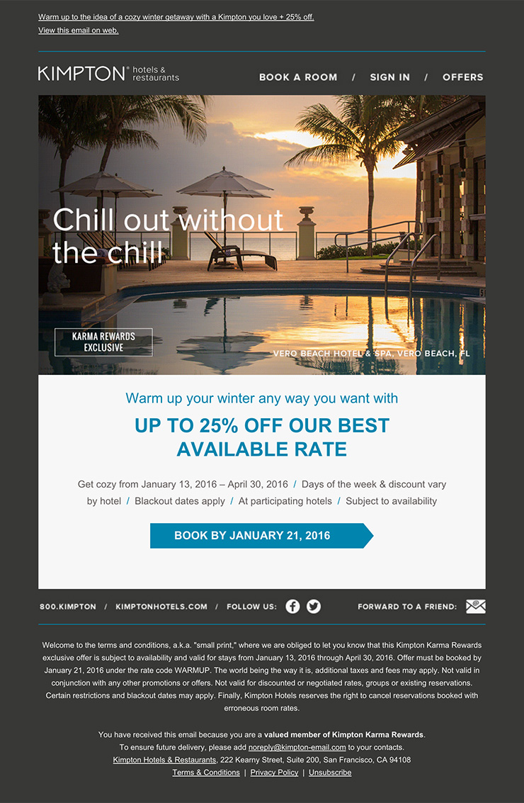 nice and clean hotel email design html email gallery